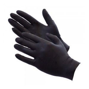 Black disposiable barber gloves