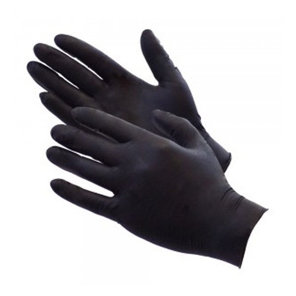 Black disposiable barber gloves