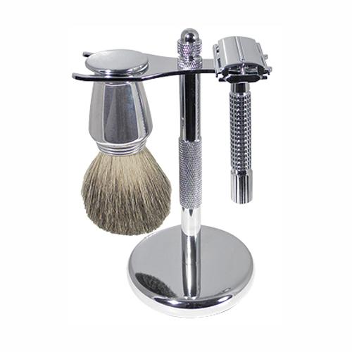 Chrome shaving set