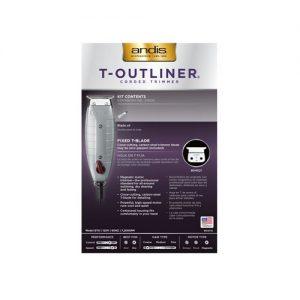 andis T Outliner Trimmer 04710 B back