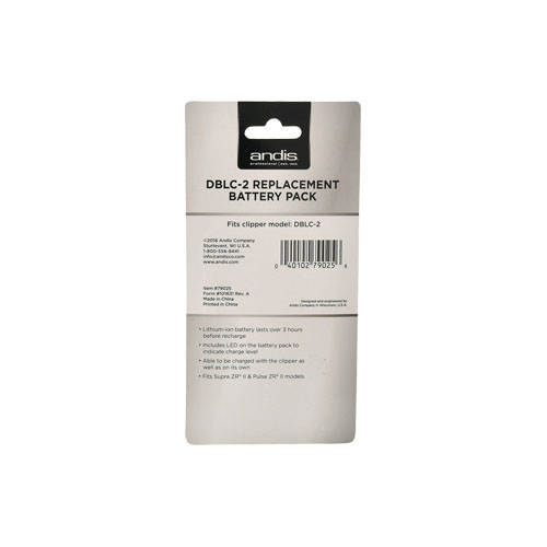 Andis DBLC 2 Replacement Battery Pack C back